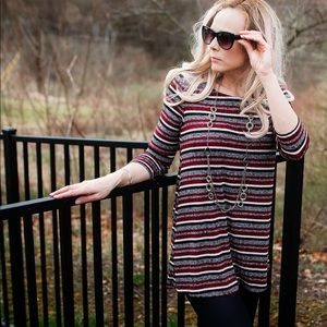 Criss cross strap knit top